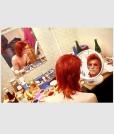Bowie Make Up Circle Mirror