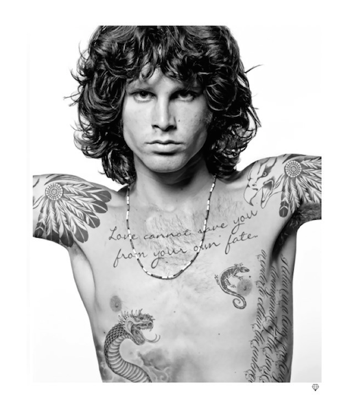 JIM MORRISON TATTOO (FRAMED) - Beautiful Crime Gallery
